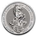 2020 Great Britain 2 oz Silver - The White Horse of Hanover.