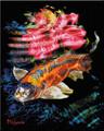ORANGE KOI WITH WATER FLOWER by Artist McKenzie