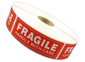 1 Rolls 1000 1 x 3 FRAGILE HANDLE WITH CARE Stickers Labels