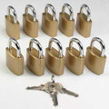 10 Pack padlocks for all our locking mounts