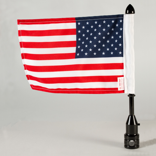 "Tour-Pak 1/2"" Fixed Flag Mount - Black"
