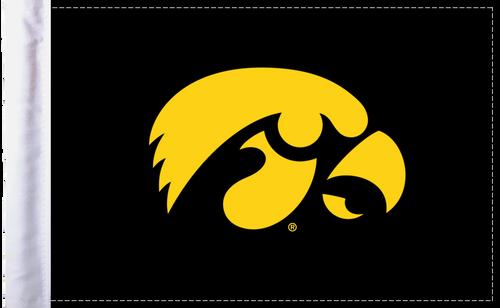 "Iowa Hawkeyes 6""x9"" Motorcycle Flag"
