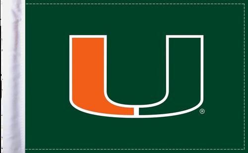 "Miami Hurricanes 6""x9"" Motorcycle Flag"
