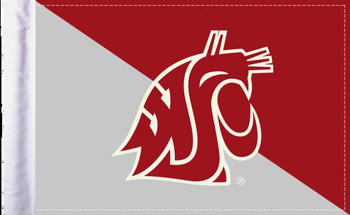 "Washington State Cougars 6""x9"" Motorcycle Flag"
