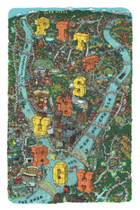 Mario Zucca Illustration Pittsburgh Map Print