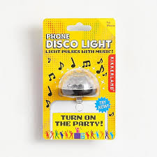 Throw yourself a party with a personal disco light! Multi-colored lights shine and flash in tune to the music you play!