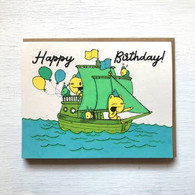 Everyday Balloons Ship Birthday Card