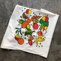 Everyday Balloons Fruits with Veggies Tea Towel