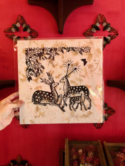 Jennifer Angus Print, Deer on Tan