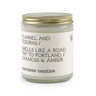 Flannel and Fedoras Anecdote Candle