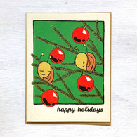 Snails Happy Holidays Card