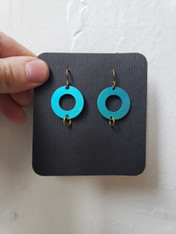 Bruce Senchesen Small Circle with Rings Earrings