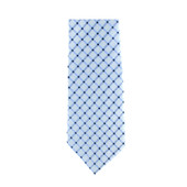 Light Blue Crosshatch Necktie