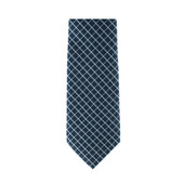 Deep Blue Crosshatch Necktie