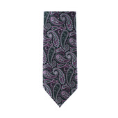 Purple Paisley Necktie