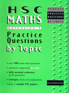 HSC Maths Extension 1 Practice Questions by Topic