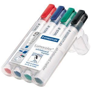 Lumocolor Whiteboard Markers Asstd PK4