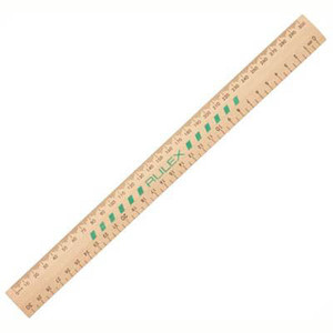 Ruler 300mm Unpolished Wooden