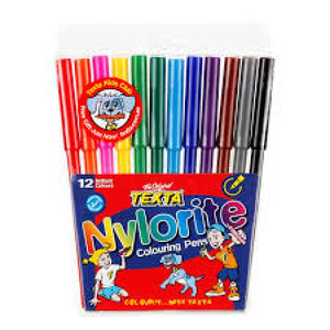 Texta Nylorite Colouring Pens Pk12
