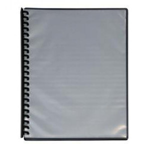 Display Book A4 20 Pocket Clear Cover Black