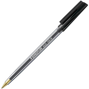 Ballpoint Pen Medium Black Staedtler Stick