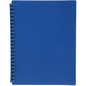 Display Book A4 20 Pocket Gloss Blue