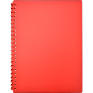 Display Book A4 20 Pocket Gloss Red