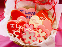 """I Love You"" Sugar Cut-Out Collection (12 Hand Decorated Cut-Outs)"