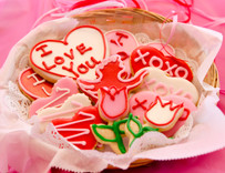 House Valentine's Day Sugar Cut-out Collection (12 Hand Decorated Cut Outs)