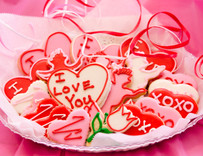 Premium Valentine's Day Sugar Cut-out Collection (24 Hand Decorated Cut Outs)