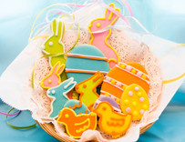 House Easter  Sugar Cut-out Collection (12 Hand Decorated Cut Outs)