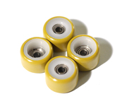 FlatFace Dual Durometer Bearing Wheels - White/Gold