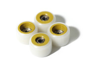 FlatFace Dual Durometer Bearing Wheels - Gold/White