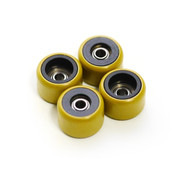 FlatFace Dual Durometer Bearing Wheels - Black/Gold