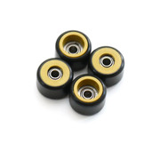 FlatFace Dual Durometer Bearing Wheels - Gold/Black