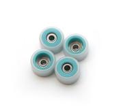 FlatFace Dual Durometer Bearing Wheels - Turquoise/White