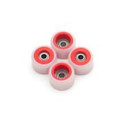 FlatFace Dual Durometer Bearing Wheels - Red/White
