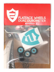 FlatFace x Oak Dual Durometer Bearing Wheels - Turquoise/Black