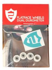 FlatFace x Oak Dual Durometer Bearing Wheels - White/White
