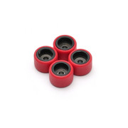 FlatFace Dual Durometer Bearing Wheels - Black/Red