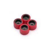 FlatFace Dual Durometer Bearing Wheels - Black/Red