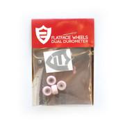 FlatFace x Oak Dual Durometer Bearing Wheels - White/Light Pink