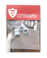 FlatFace x Oak Dual Durometer Bearing Wheels - Black/Bluemotion
