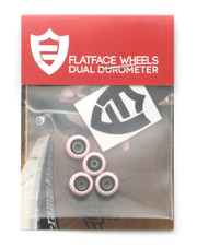 FlatFace x Oak Dual Durometer Bearing Wheels - Black/Light Pink