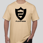 FlatFace Logo Shirt - Tan - Light Gold - Large