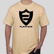 FlatFace Logo Shirt - Tan - Light Gold - XX Large