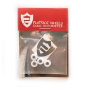 FlatFace Dual Durometer Bearing Wheels - White/White