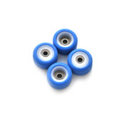 FlatFace x Oak Dual Durometer Bearing Wheels - White/Royal Blue
