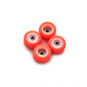 FlatFace x Oak Dual Durometer Bearing Wheels - White/Orange Bud