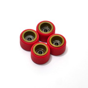 FlatFace Dual Durometer Bearing Wheels - Gold/Red